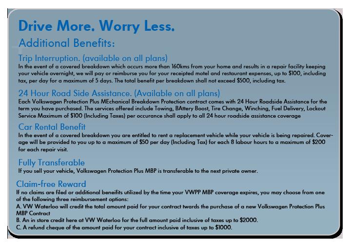 volkswagen waterloo mbp additional benefits