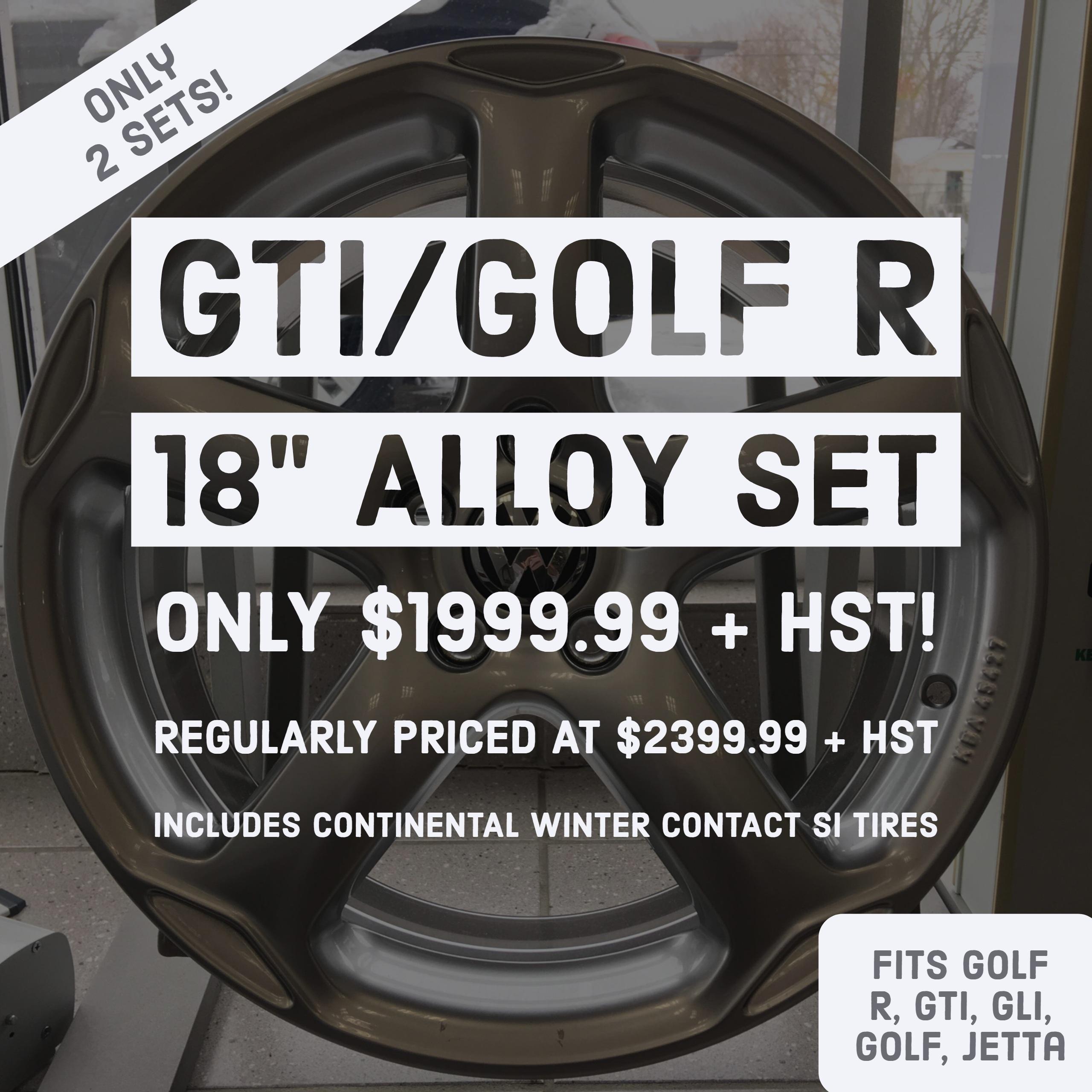 GTI Golf R Alloy Set
